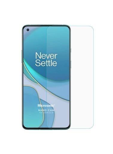 Microsonic OnePlus 8T Nano Glass Cam Ekran Koruyucu Renksiz